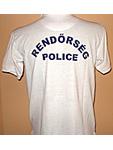Fehér rendőrségi póló ing